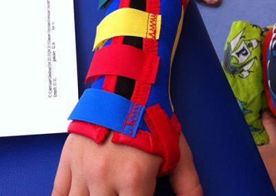 Kinder Mittelhand-Unterarmorthese individuell gearbeitet