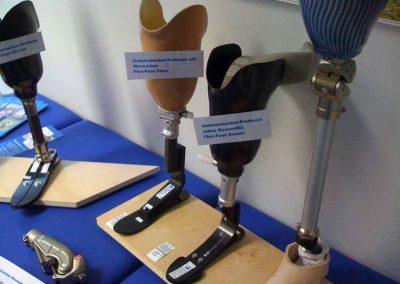 (Bein)Prothesenmodelle auf unserem Messestand