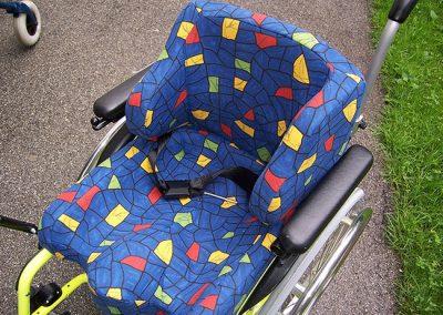 Sitzschale nach Körperabdruck gefertigt